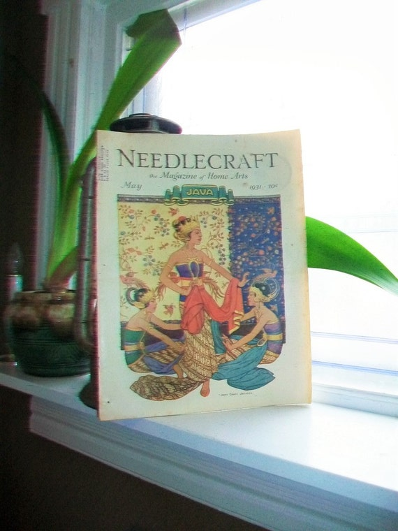 1931 Needlecraft Magazine of Home Arts May Issue Vintage 1930s Sewing