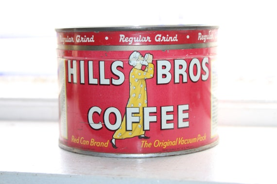 Vintage Hills Bros. Coffee Tin 1950s