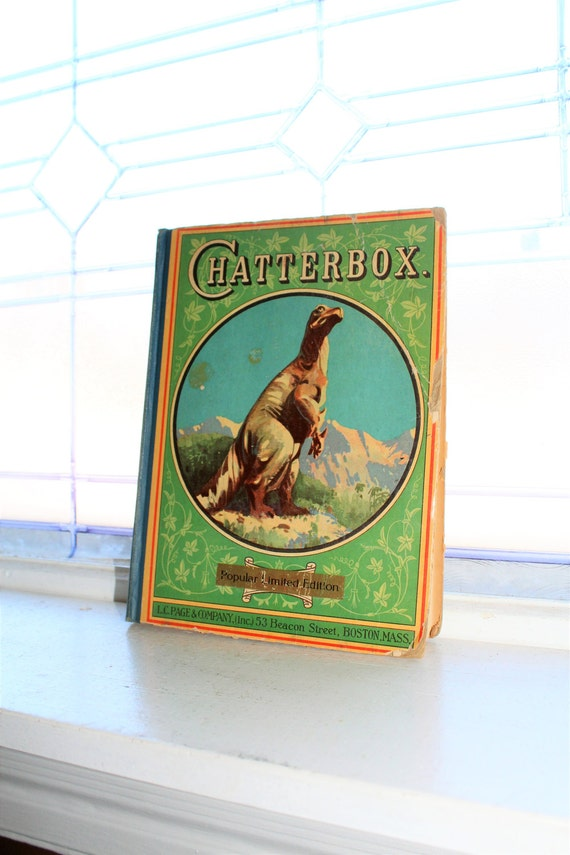 Vintage Children's Book Chatterbox 1927