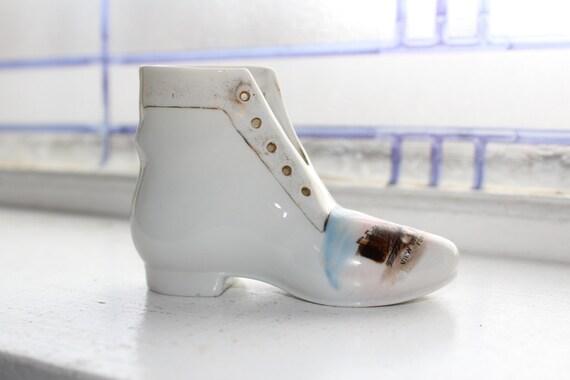 Antique Porcelain Shoe Souvenir Forman North Dakota