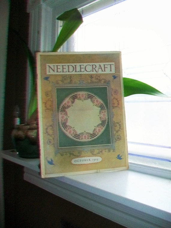1919 Needlecraft Magazine October Issue with Great Cream Of Wheat Ad Vintage 1910s Sewing