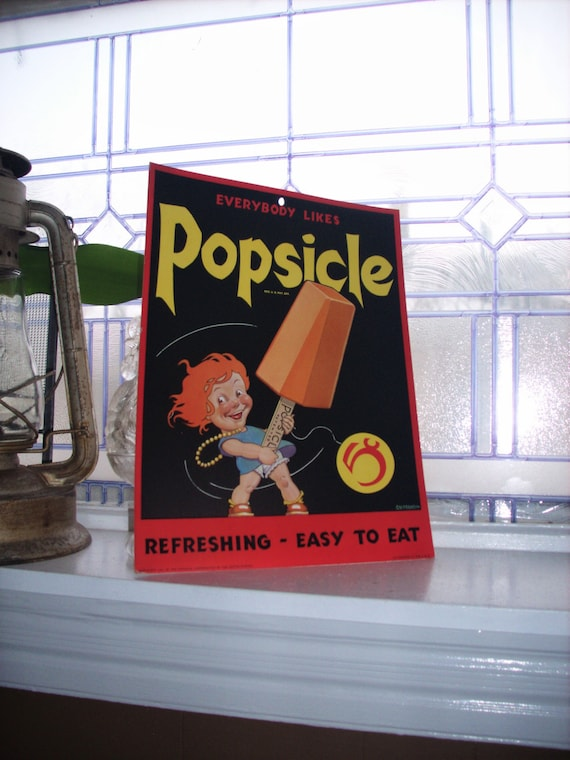 Vintage 1930s Popsicle Sign Unused Advertising