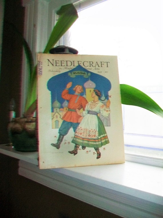 1931 Needlecraft Magazine of Home Arts February Issue Vintage 1930s Sewing