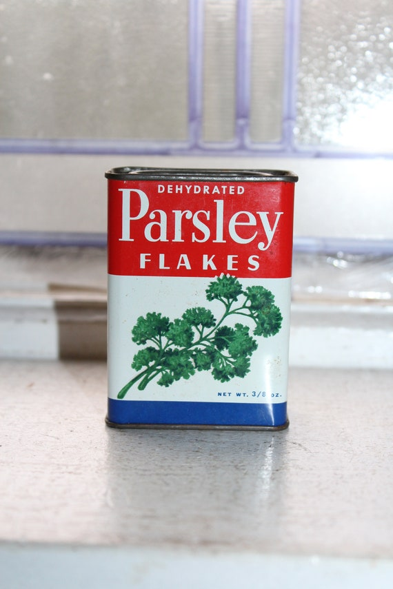 Vintage Kitchen Spice Tin Woolson Parsley Flakes