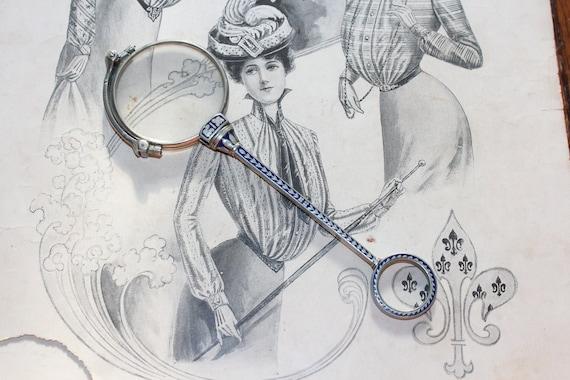 Antique Folding Opera Glasses Lorgnette Art Deco S
