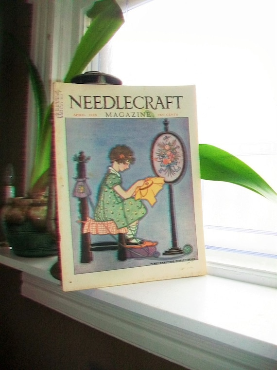 1929 Needlecraft Magazine of Home Arts April Issue Vintage 1920s Sewing