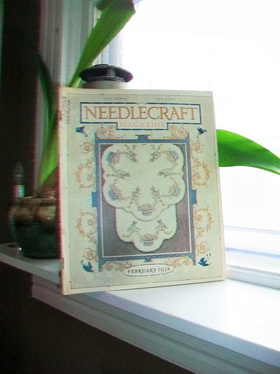 1925 Needlecraft Magazine of Home Arts February Issue Vintage 1920s Sewing