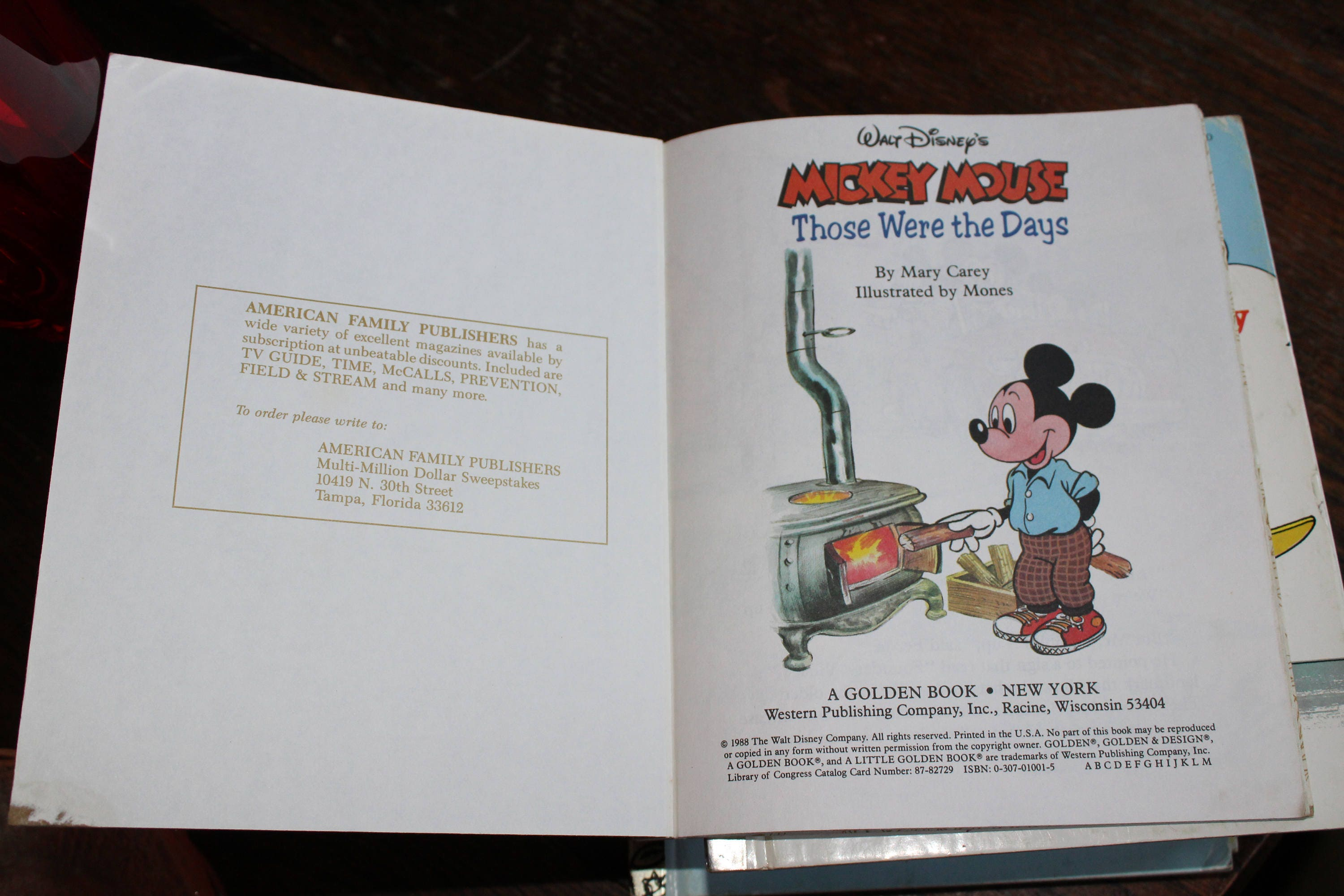 3 Little Golden Books MIckey Mouse Vintage Childrens Book
