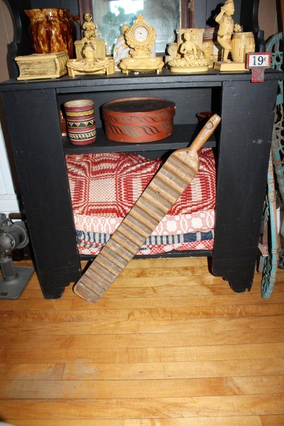 Antique WoodWash Board One Handled Scrub Board 19th Century American