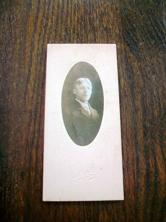 Vintage 1910s Photograph Young Edwardian Man 6 x 3