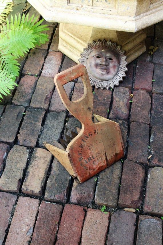 Primitive Cranberry Scoop Rake RC King Antique 1800s Rustic Farmhouse
