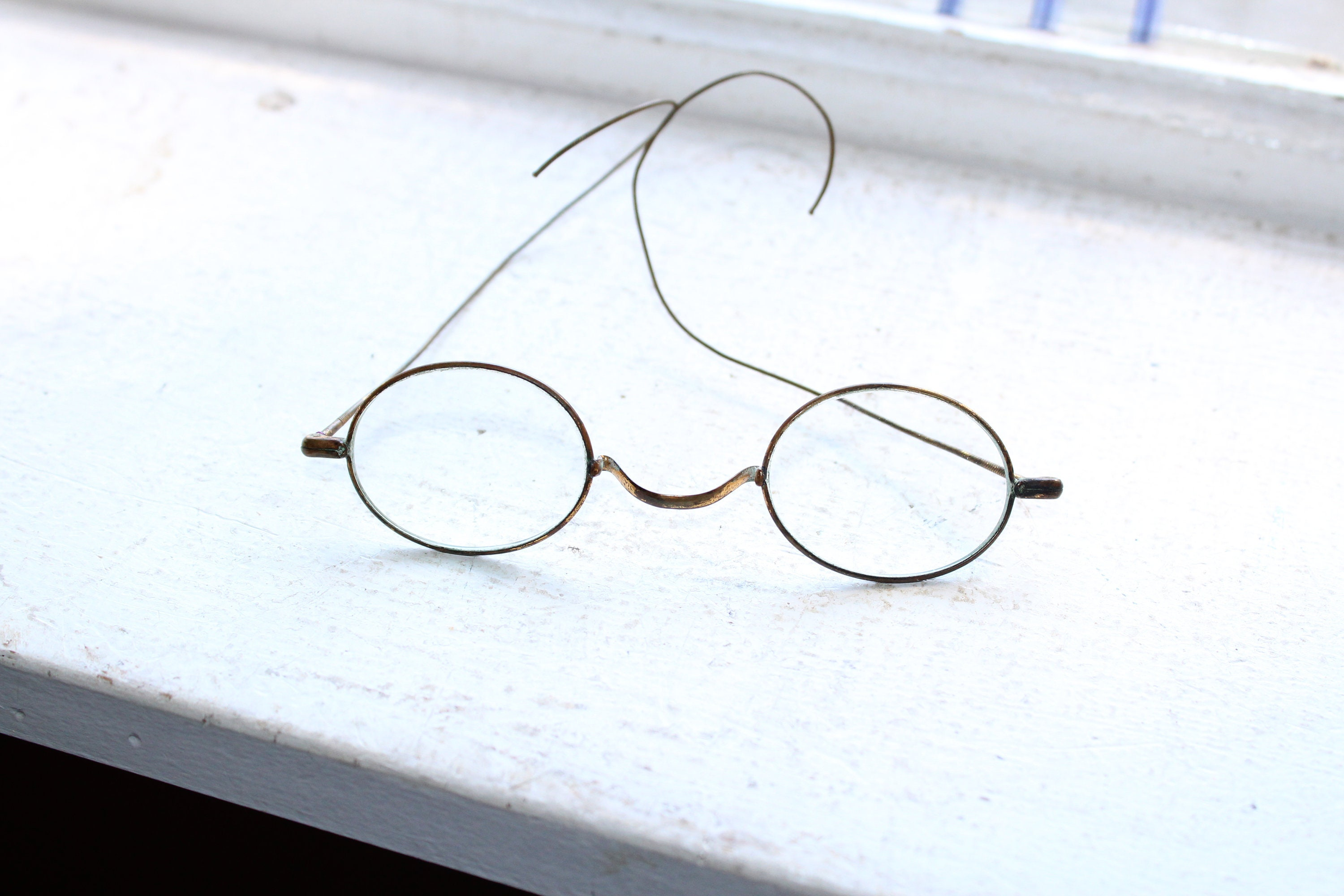 Antique Eyeglasses Gold Tone Frames Civil War Era