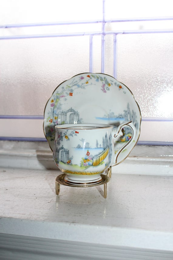 Royal Albert Teacup and Saucer Rosedale Vintage Bone China