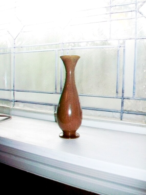 Vintage Brown Bud Vase Red Wing Pottery M 1509