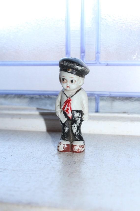 Vintage Doll Frozen Charlotte Adorable Sailor Boy Stocking Stuffer