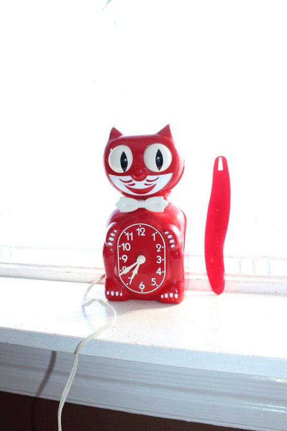1950s Red Kit Kat Klock Clock with Original Box