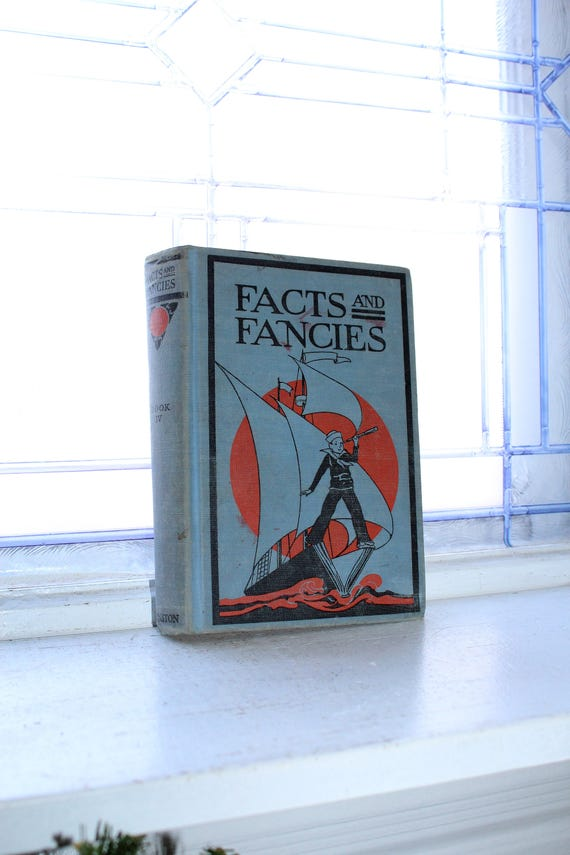 Facts and Fancies Vintage 1930 Children's Book