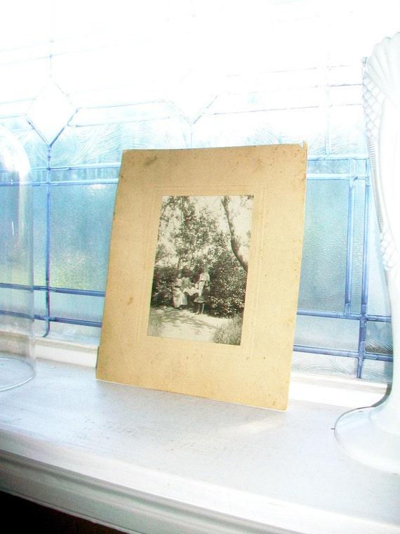 Antique Photograph Picnic In The Trees In Italy Early 1900s