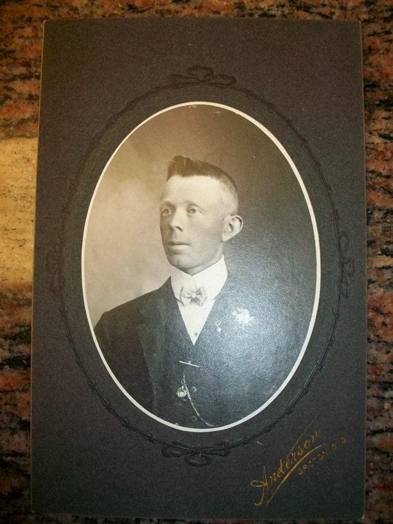 Vintage Photograph Just A Boy And His Bowtie Victorian Portrait