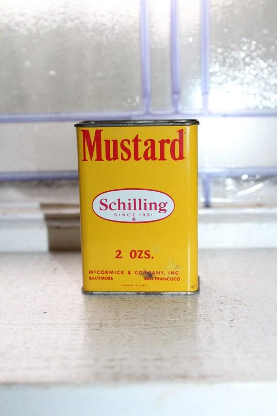 Vintage Kitchen Spice Tin Schilling Mustard
