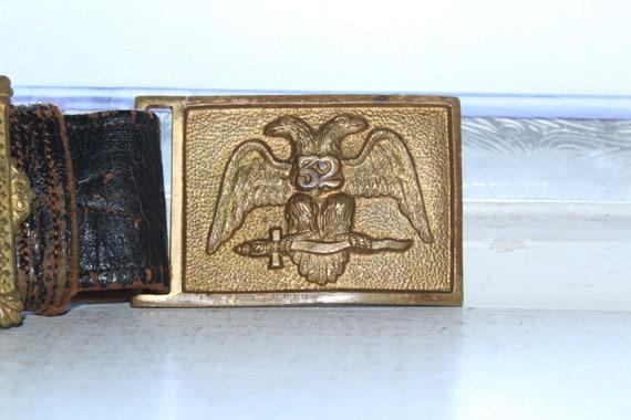 Antique Masonic Belt 32nd Level Mason Fraternal
