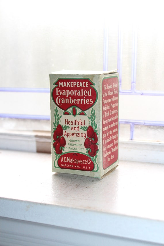 Antique Evaporated Cranberries Box Country Store Display