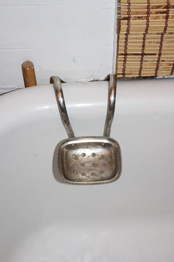 Vintage Clawfoot Bathtub Soap Dish Caddy