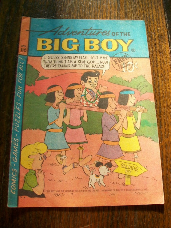 Comic Book Adventures of the Big Boy 1960s Promotional Comic Number 116