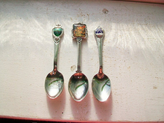 3 Collector Spoons St. Louis Grand Ole Opry Jackson Hole Wyoming