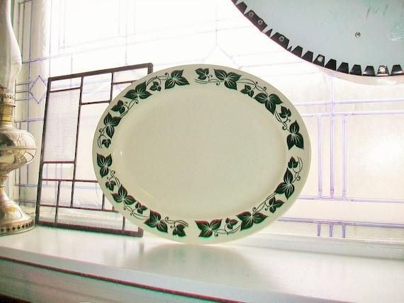 Large Vintage Platter Ivy Pattern Homer Laughlin Co. 1950s