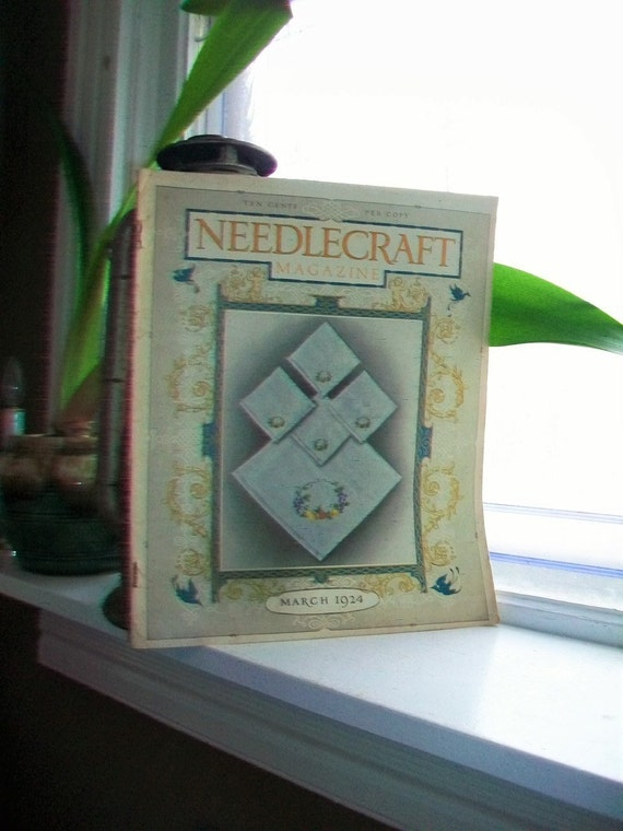 1924 Needlecraft Magazine March Issue with Great Cream Of Wheat Ad Vintage 1910s Sewing