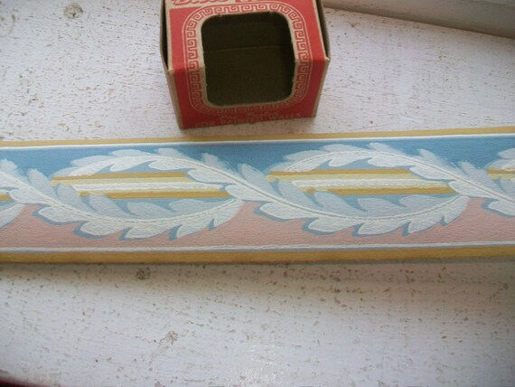 Vintage 1940s Wall Paper Border Unused Duro Brand Empire Style Wallpaper