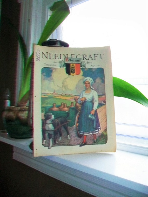 1931 Needlecraft Magazine of Home Arts September Issue Vintage 1930s Sewing