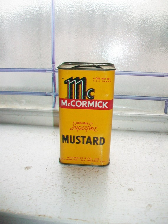 Vintage Kitchen Spice Tin McCormick Mustard