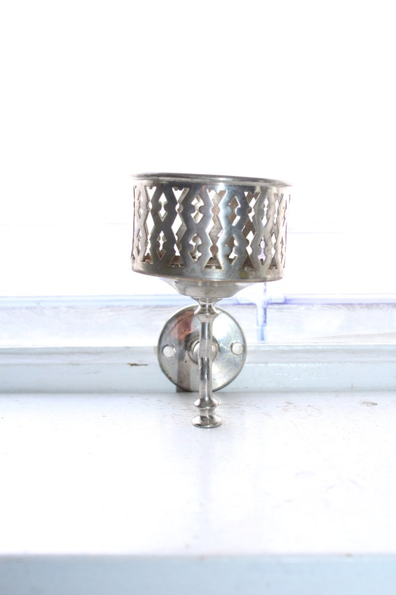 Antique Chrome Bathroom Cup Holder Wall Mount