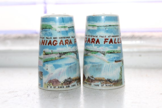 Vintage Salt and Pepper Shakers Niagra Falls Souvenir