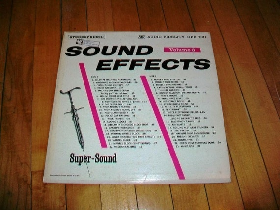 Sound Effects Record Album Volume 3 Stereophonic Vintage 1962 DFS 7011