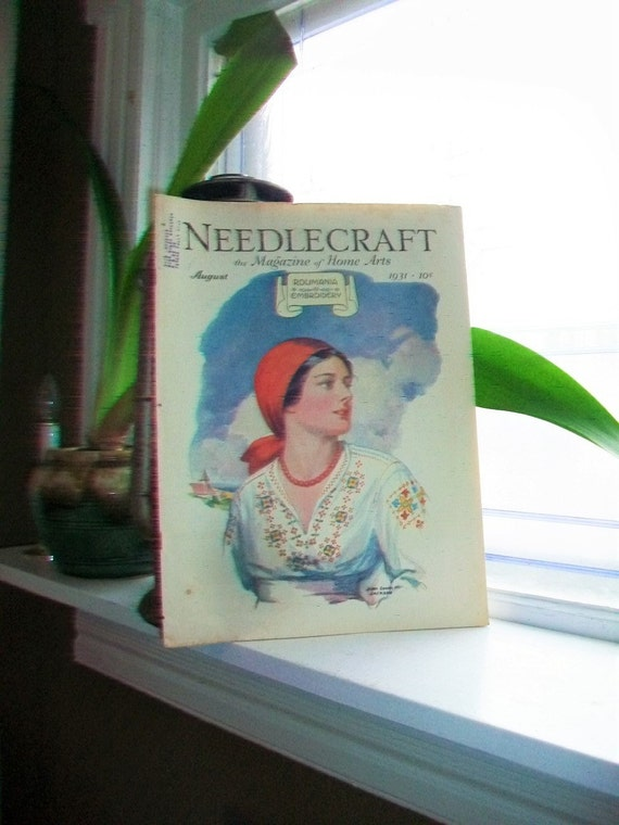 1931 Needlecraft Magazine of Home Arts August Issue Vintage 1930s Sewing