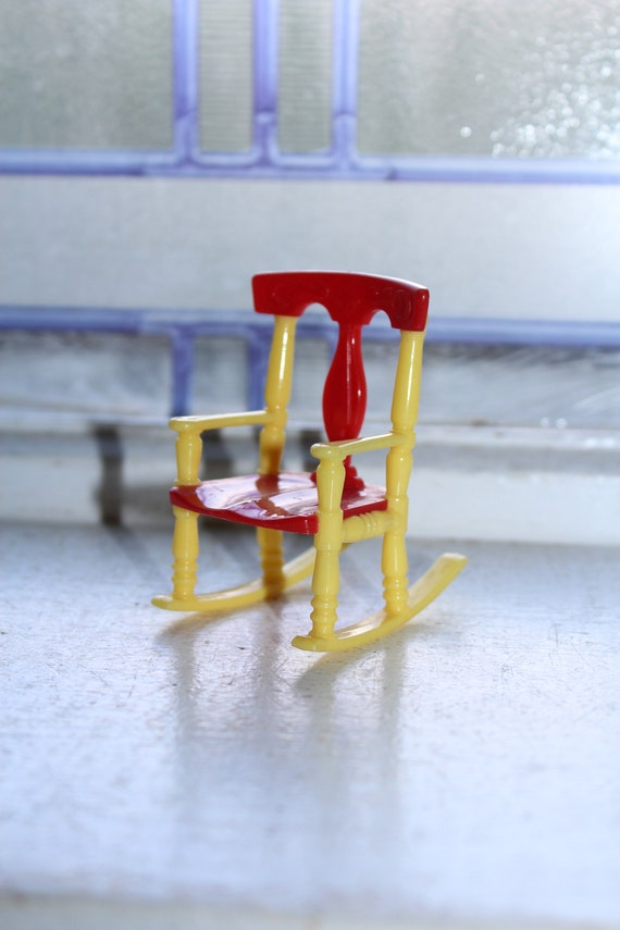 Dollhouse Furniture Renwal Rocking Chair No. 65 Vintage 1960s