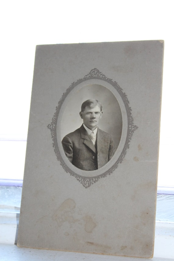 Country Gentleman Cabinet Card Photograph Antique 1800s Photo