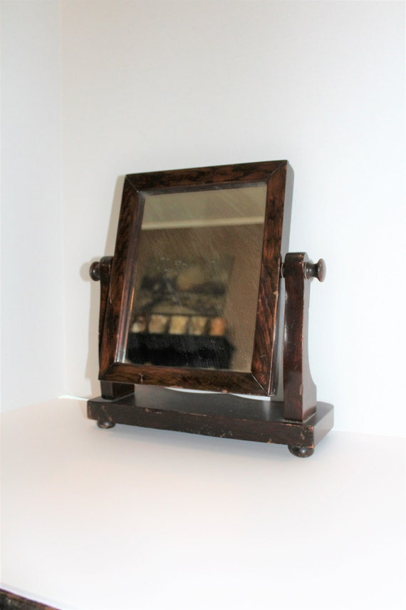 Wooden Vanity Mirror Shaving Dresser Antique