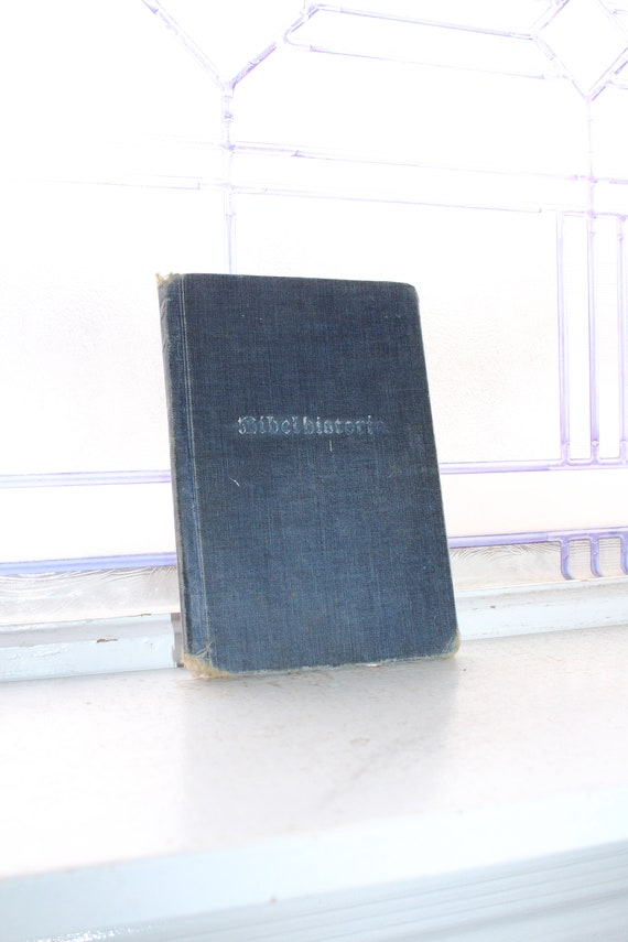 Antique 1888 Danish Book Bolrath Bogts Bibelhistorie Bible History