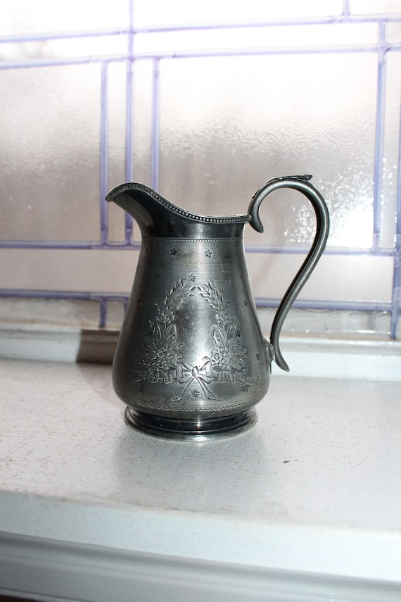 Silverplate Pitcher or Creamer James Dixon & Sons Antique 1800s
