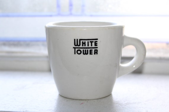Vintage White Tower Hamburgers Restaurant Ware Coffee Cup 1950s
