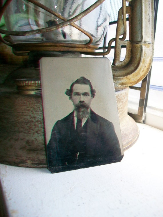 Antique Tin Type Photograph of a Man Circa 1850-1860s