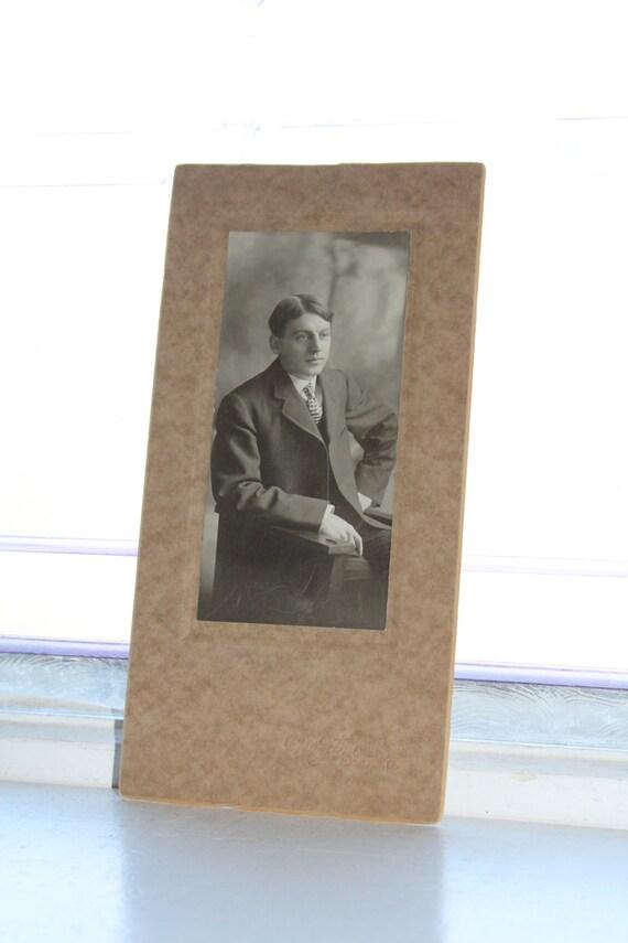 Edwardian Man Cabinet Card Photograph Antique 1800s Photo