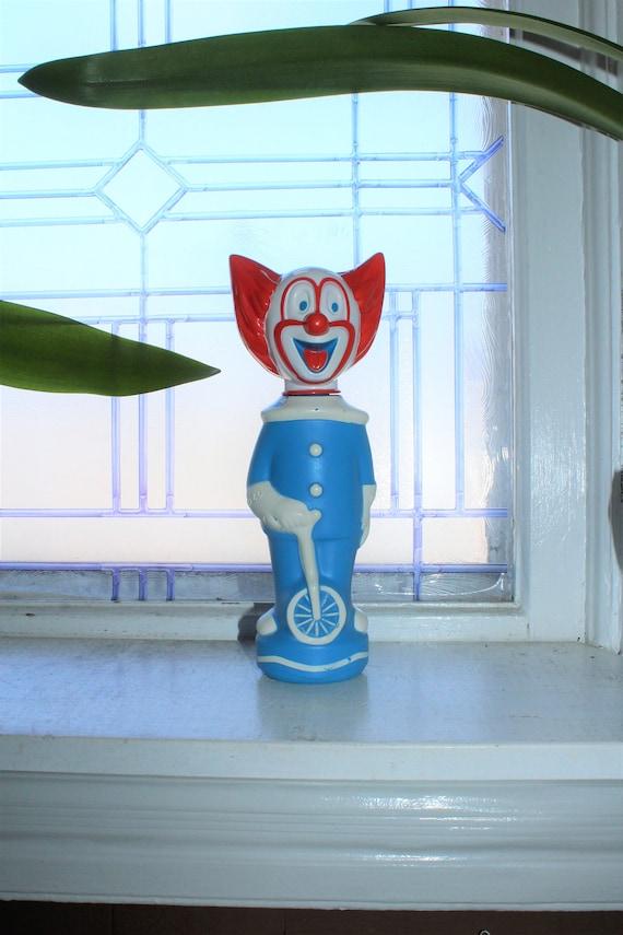 1960s Bozo the Clown Soaky Bottle Vintage Bubble Bath Soap
