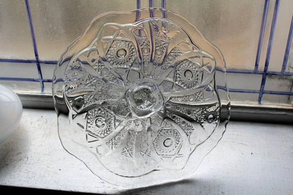Vintage Cake Stand Imperial Glass