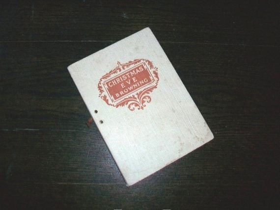 Vintage Book Christmas Eve by Robert Browning
