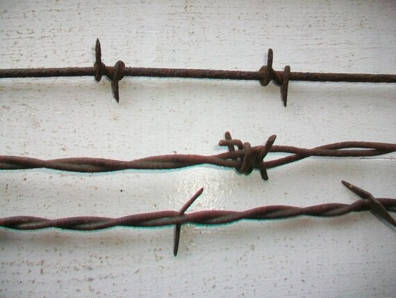 Antique Barbed Wire 3 Pieces 1800s Barbwire Bobbed Wire Devil's Rope Wild West